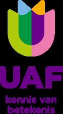 UAF logo staand