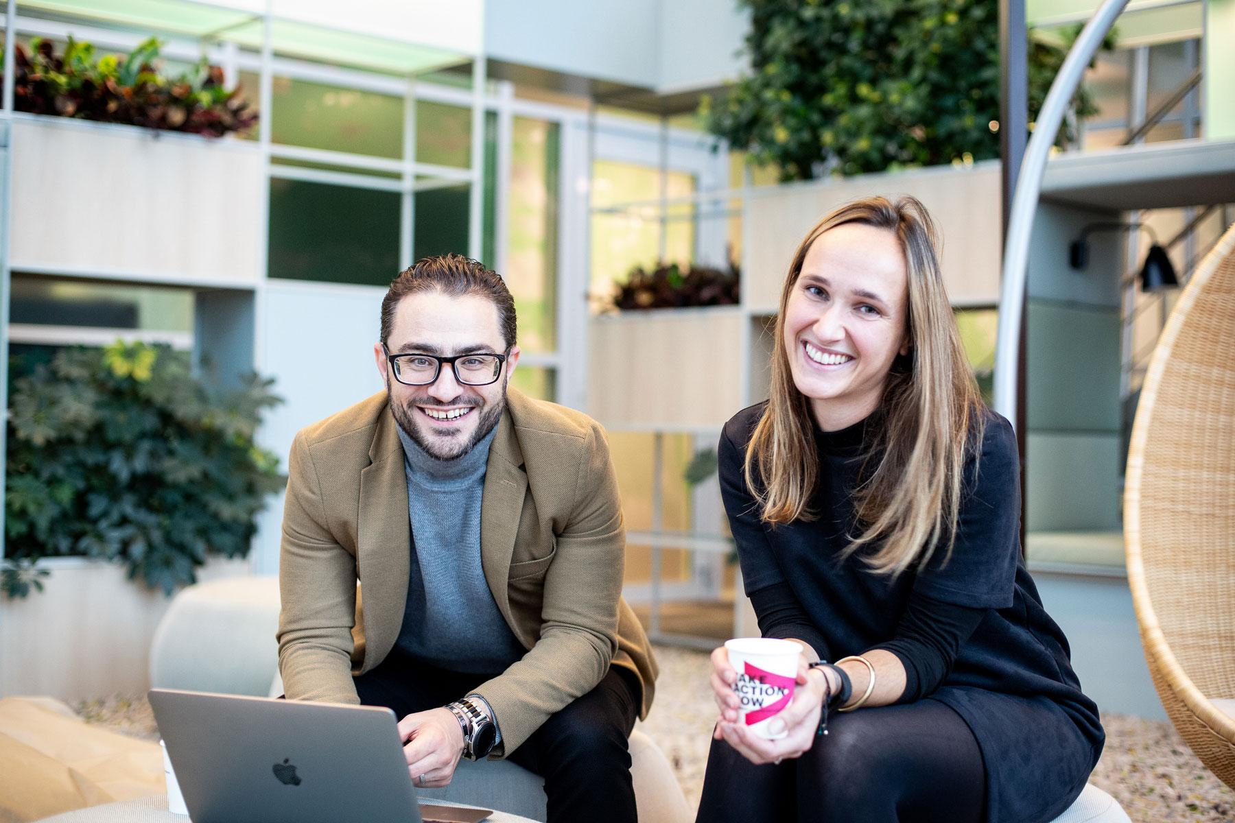 Mohamad en Leonie zijn een mentorkoppel